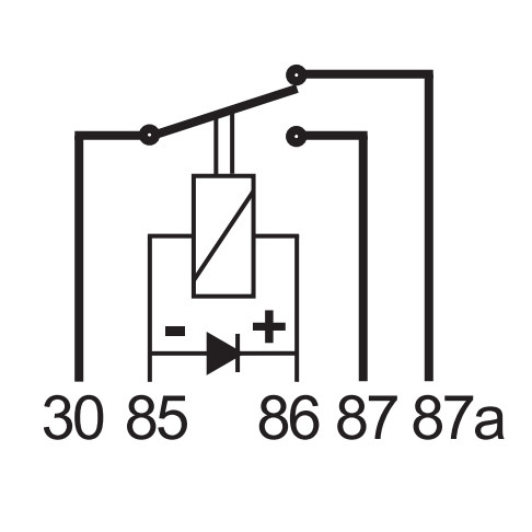 0 728 13 durite 12v 15a 25a micro changeover relay with diode 2132 p[1] 12 volt relay 56006707 wiring diagrams wiring diagrams 56006707 Relay Digram at edmiracle.co